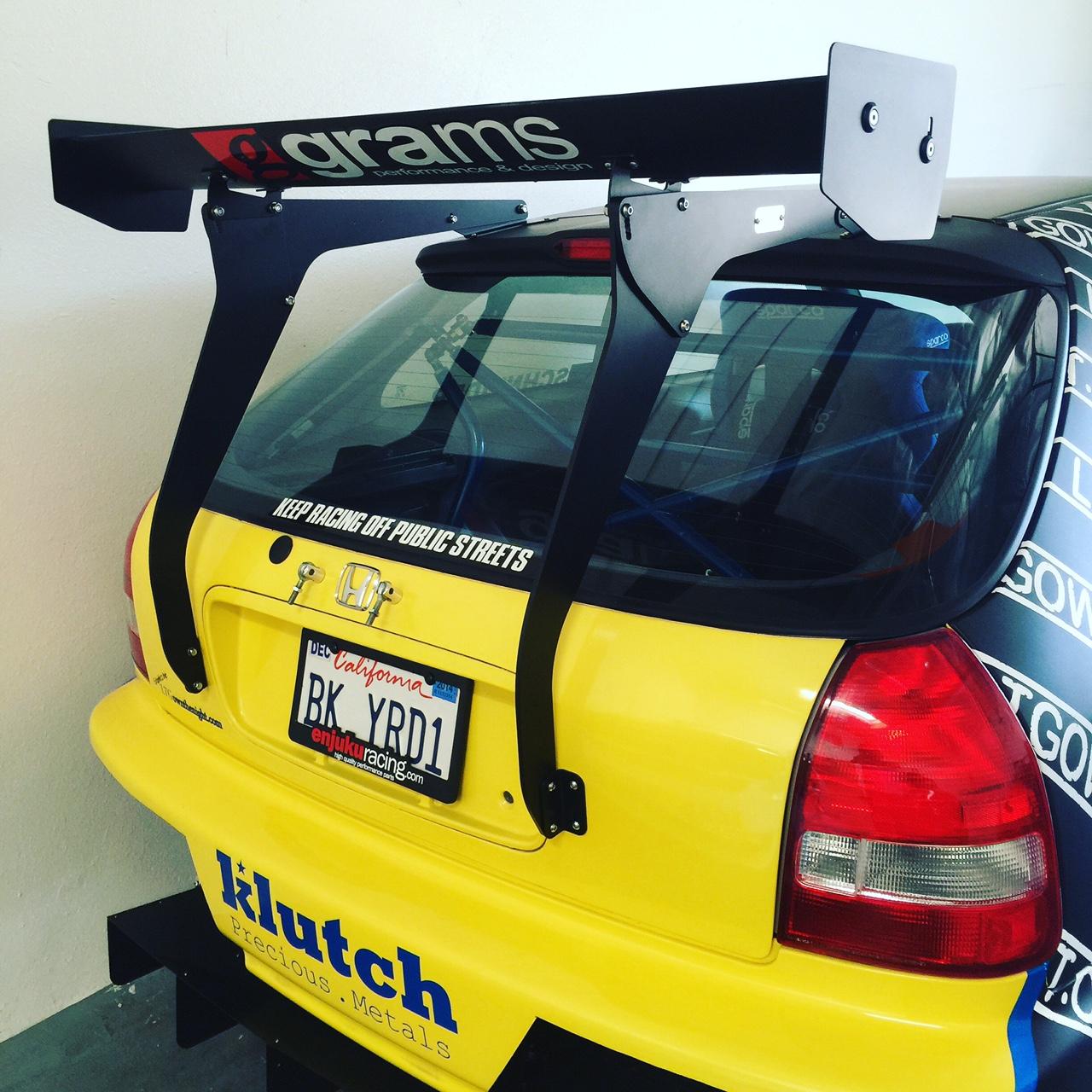 Honda Civic Ek Hatchback >> WM-EK-1/ 96-00 Honda Civic hatchback Wing Mounts – PCI Racing